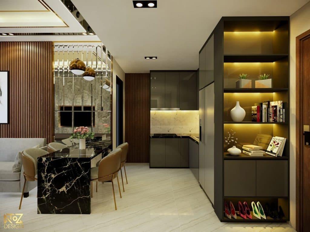 Vật liệu, nội thất cao cấp của phong cách thiết kế Contemporary