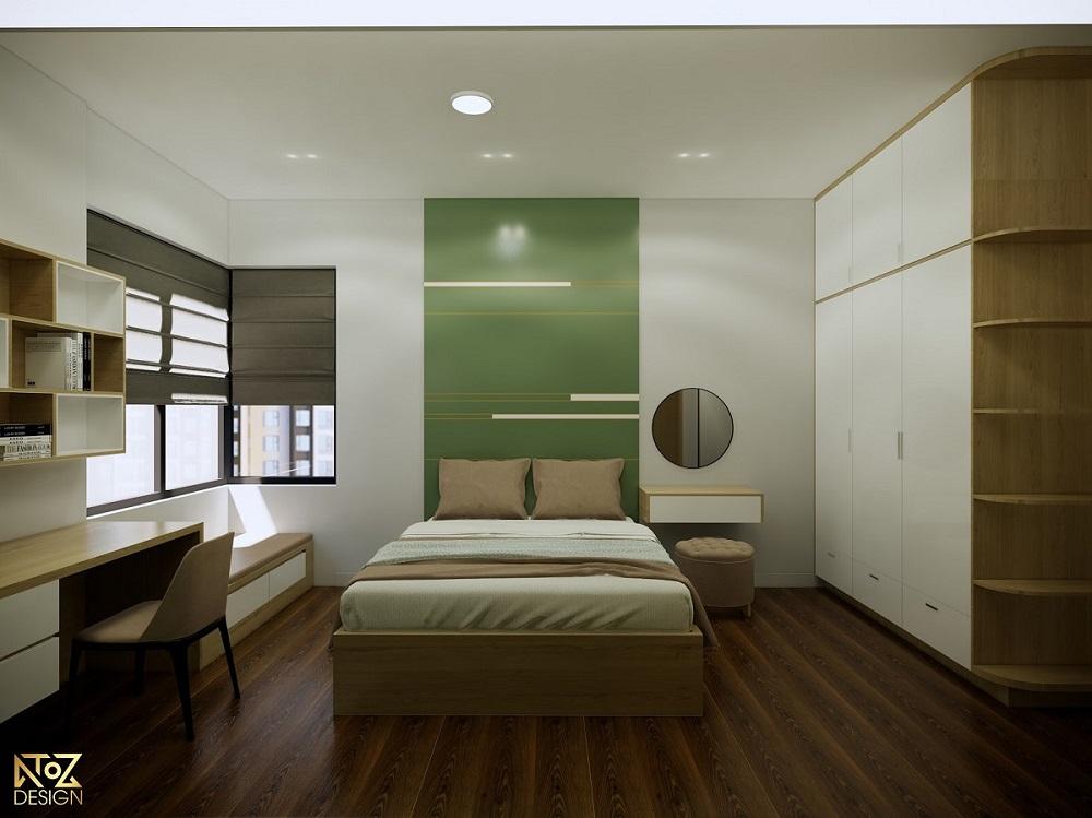 Không gian phòng ngủ được trang trí tối giản vô cùng hài hòa