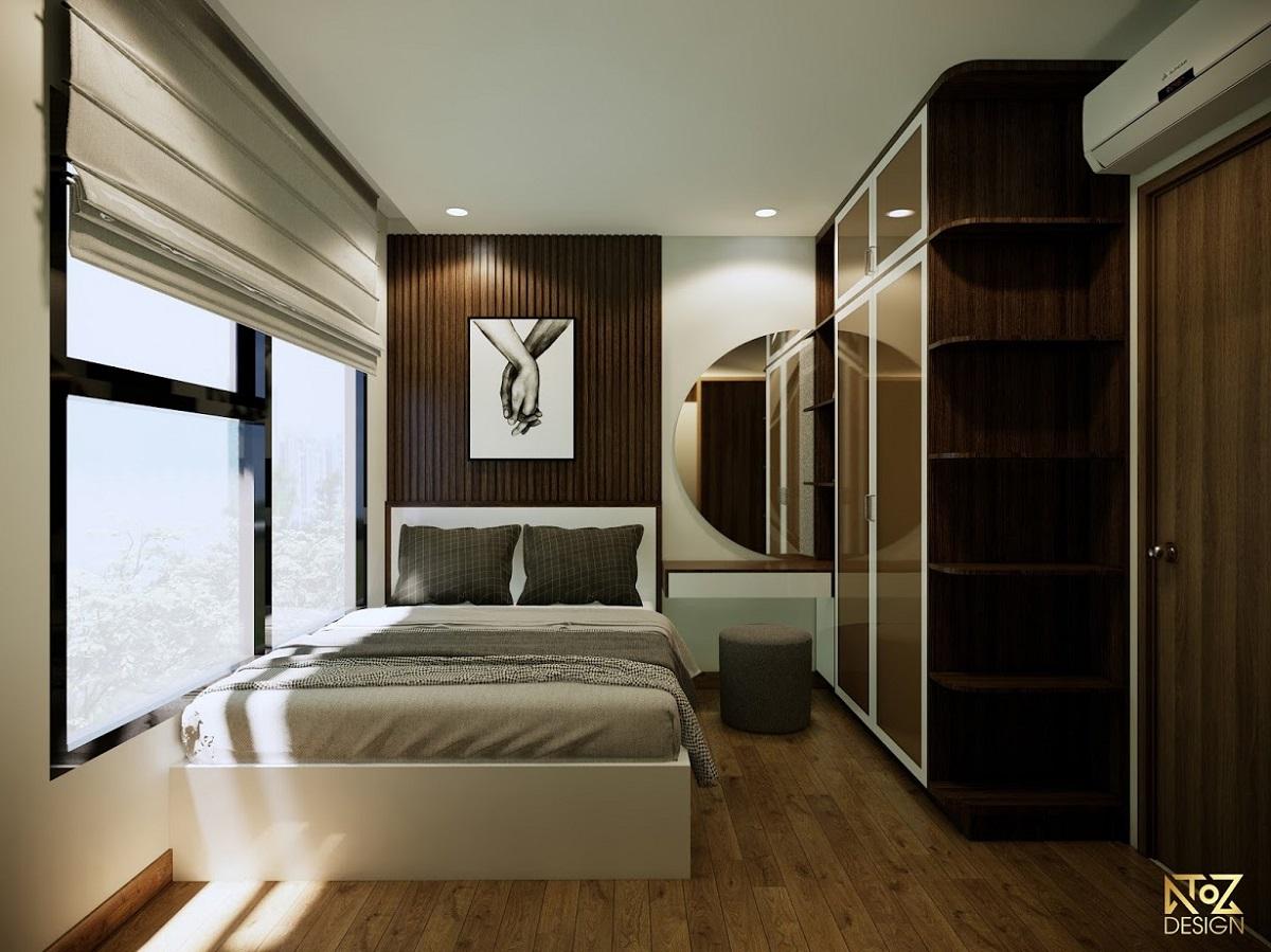 Phòng ngủ được thiết kế nội thất theo phong cách Retro