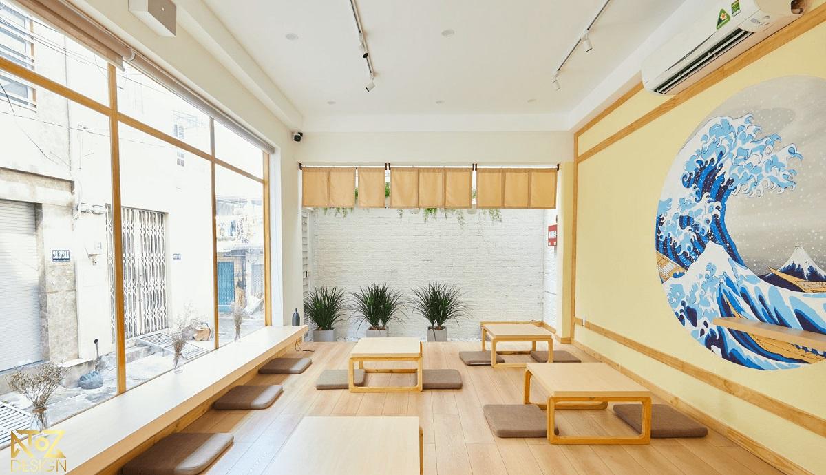 Không gian quán cà phê được thi công bởi ATOZ Design