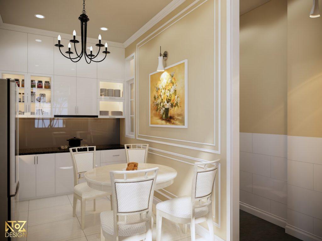 Những bức tranh trang trí trên tường giúp tăng thêm điểm nhấn cho căn hộ