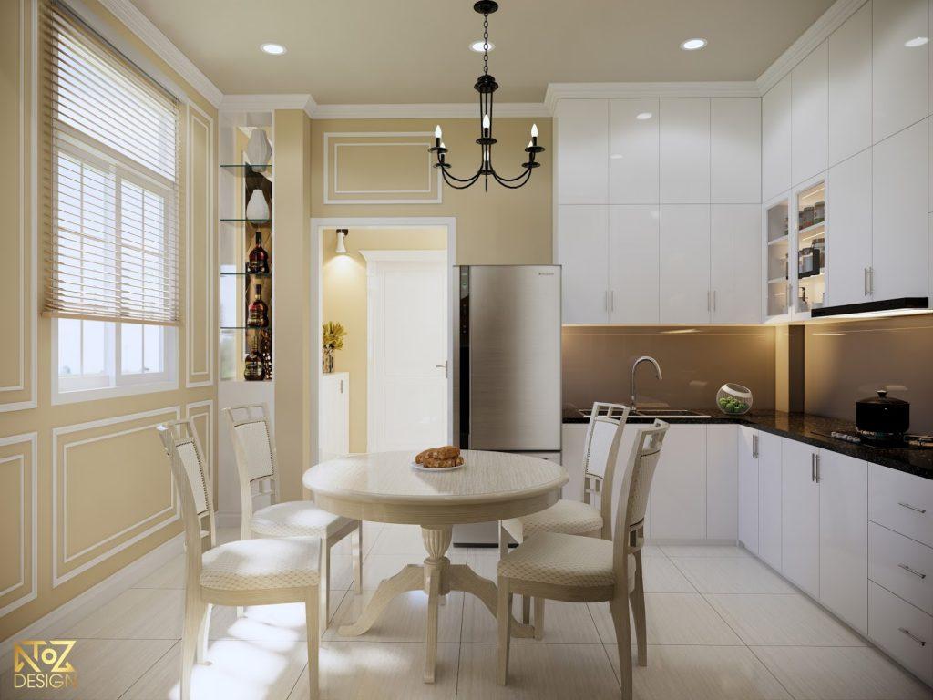 Phòng bếp được thiết kế riêng biệt giúp đảm bảo sự riêng tư