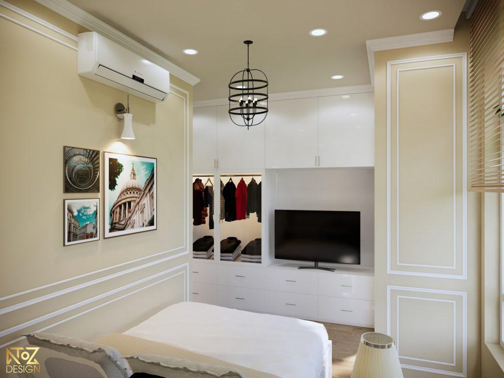 Phòng ngủ được trang bị đầy đủ tiện nghi cần thiết cho gia chủ