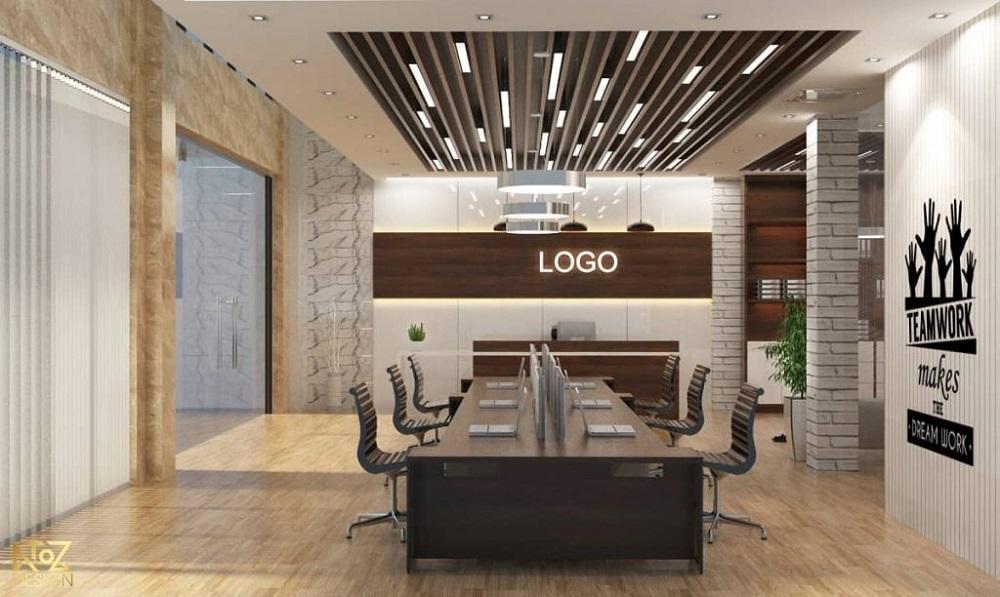 Ánh sáng và trang trí giúp mang lại sự hiện đại và sang trọng hơn cho văn phòng của bạn