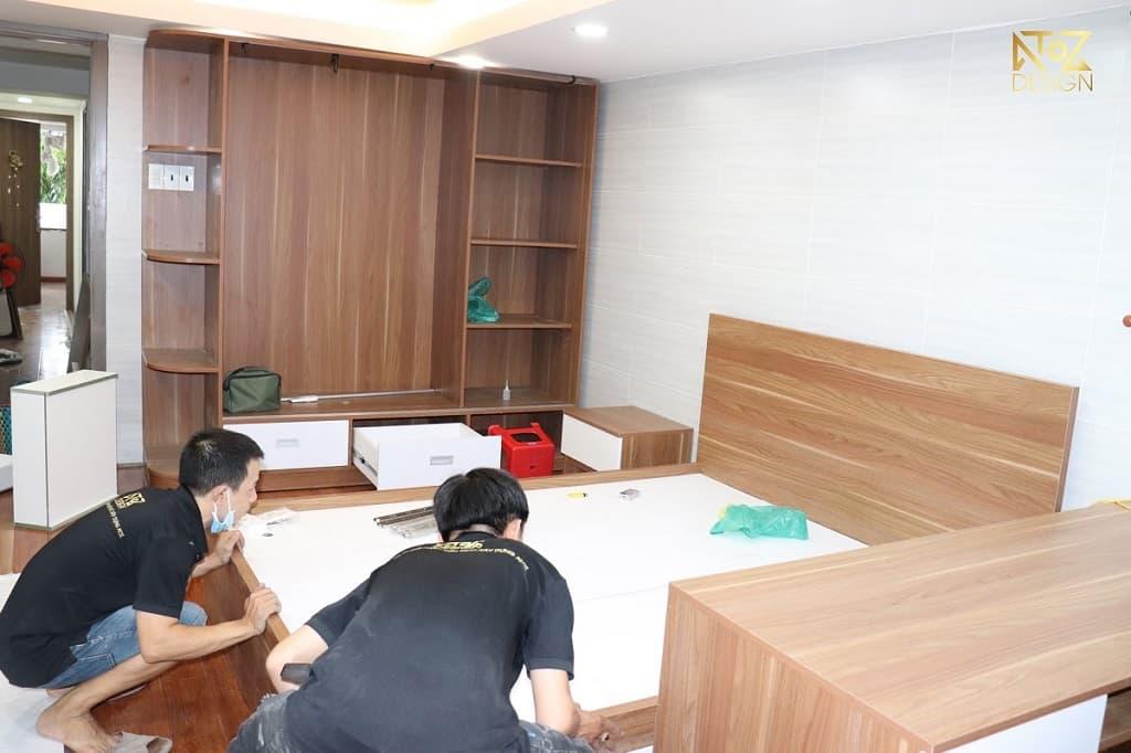 giá giường gỗ công nghiệp không quá cao