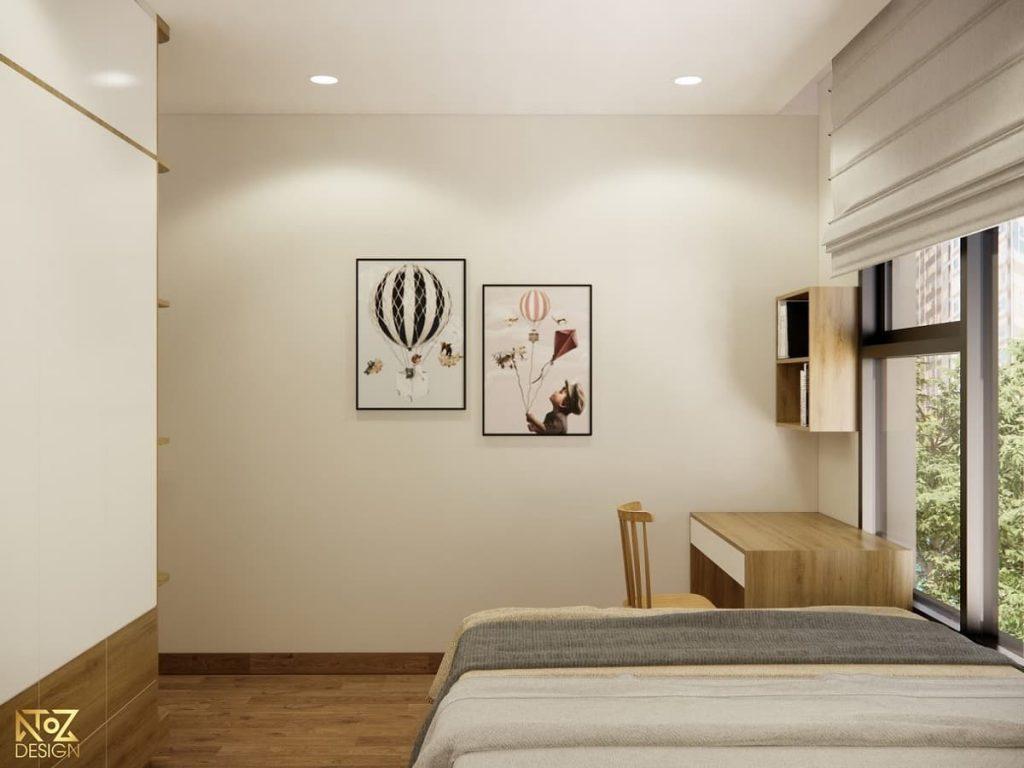 thiết kế không gian phòng ngủ của căn hộ