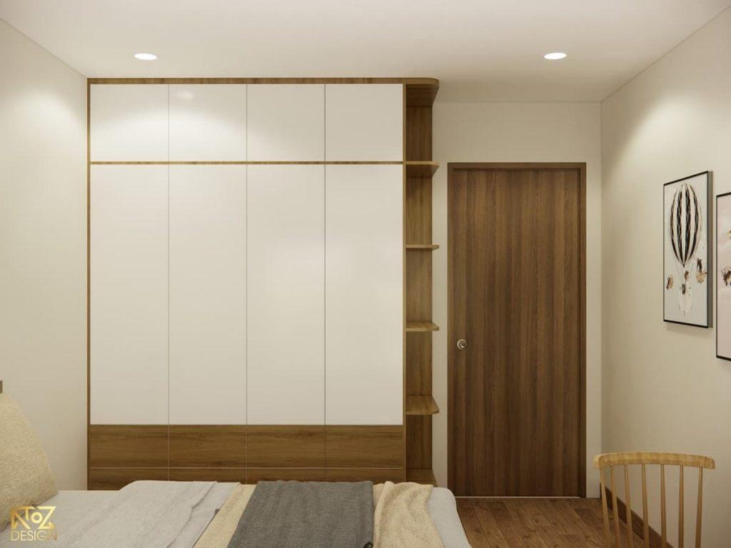 bố trí nội thất phòng ngủ căn hộ 70m2 vinhomes quận 9