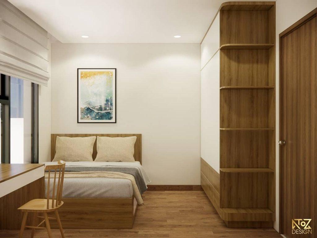 dự án thiết kế căn hộ 2 phòng ngủ diện tích 70m2 Vinhomes Quận 9