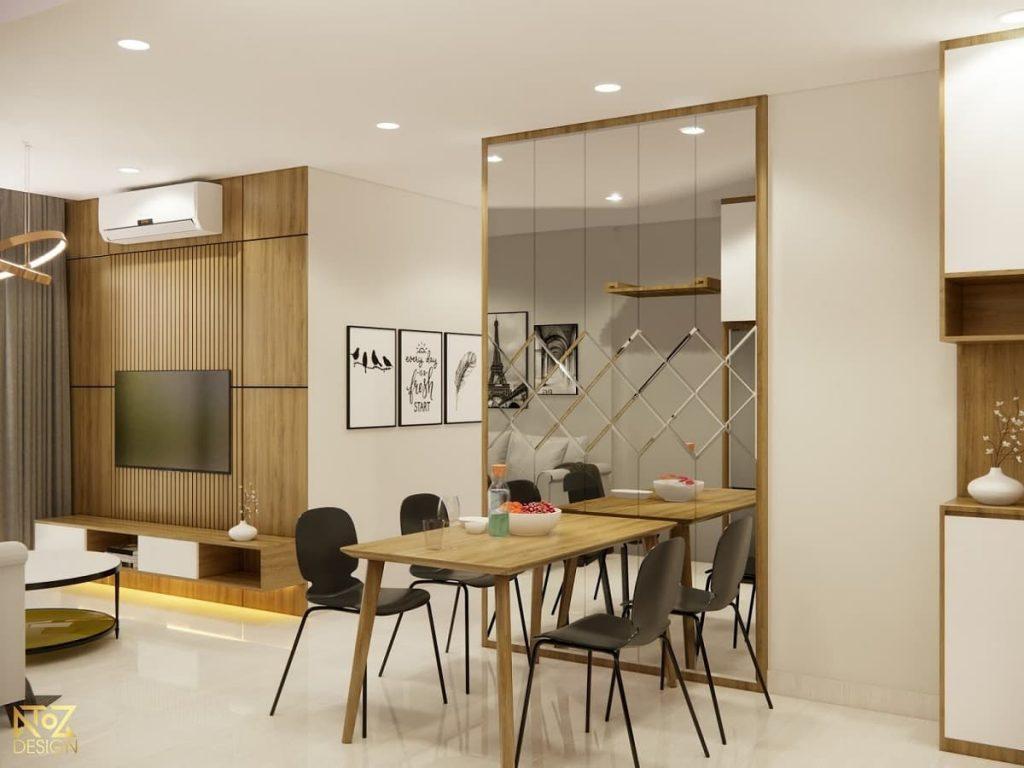 khu vực bàn ăn của căn hộ