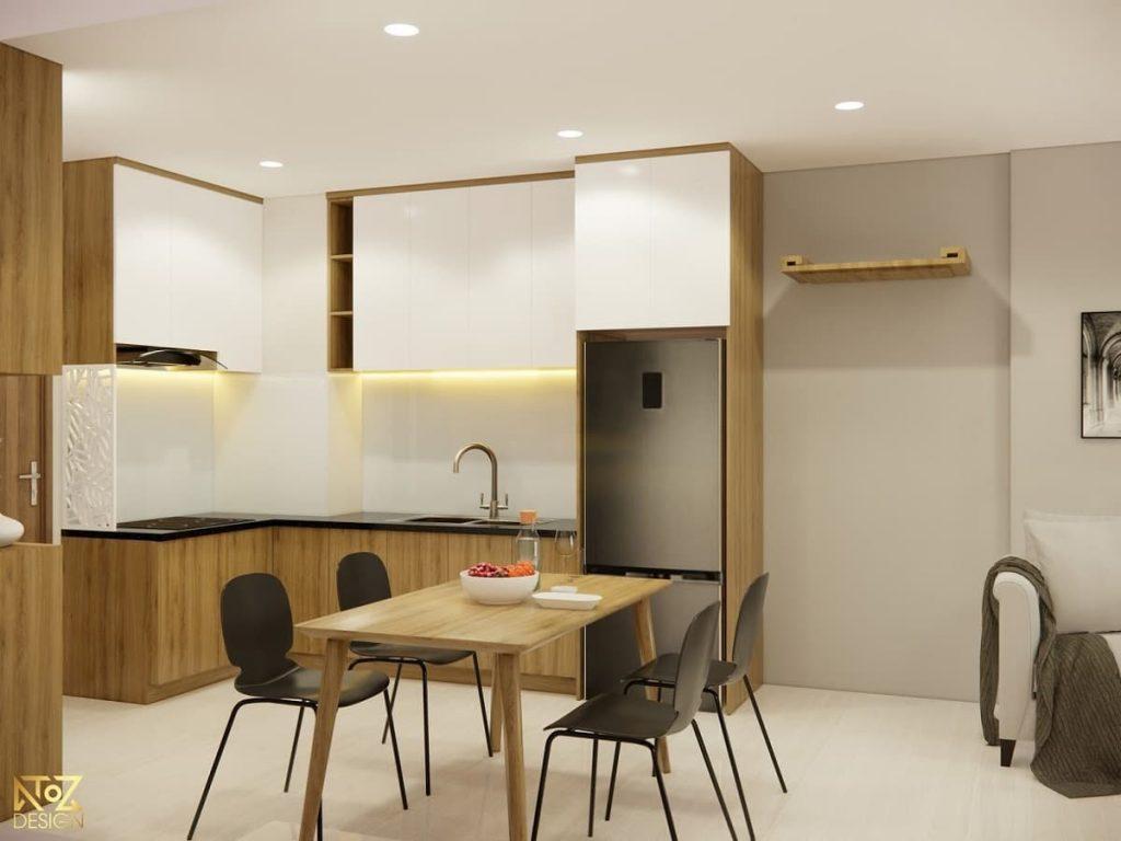 thiết kế khu vực bếp của căn hộ