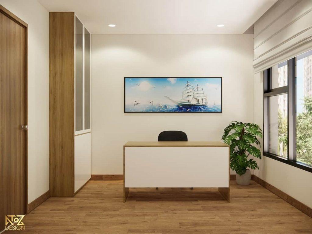 thiết kế bàn làm việc căn hộ 70m2