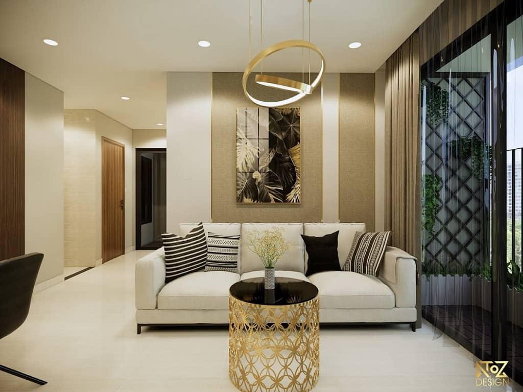 những điều cần quan tâm để có một mẫu thiết kế phòng khách nhà ống đẹp
